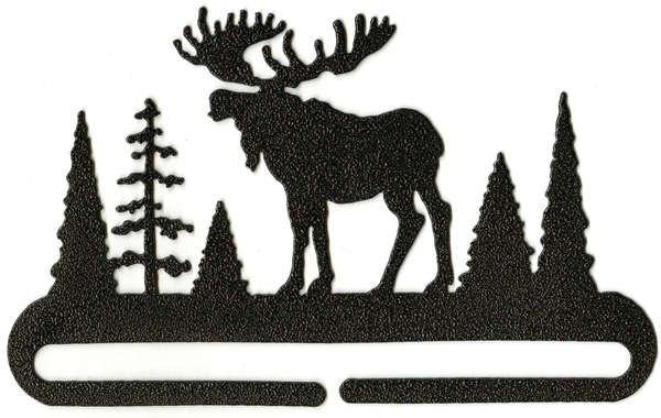 Hanger - 6in Split Bottom Holder Alaska Moose Charcoal