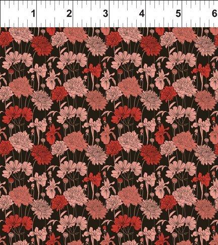 Garden Delights III 2GSG1 Bouquet Red