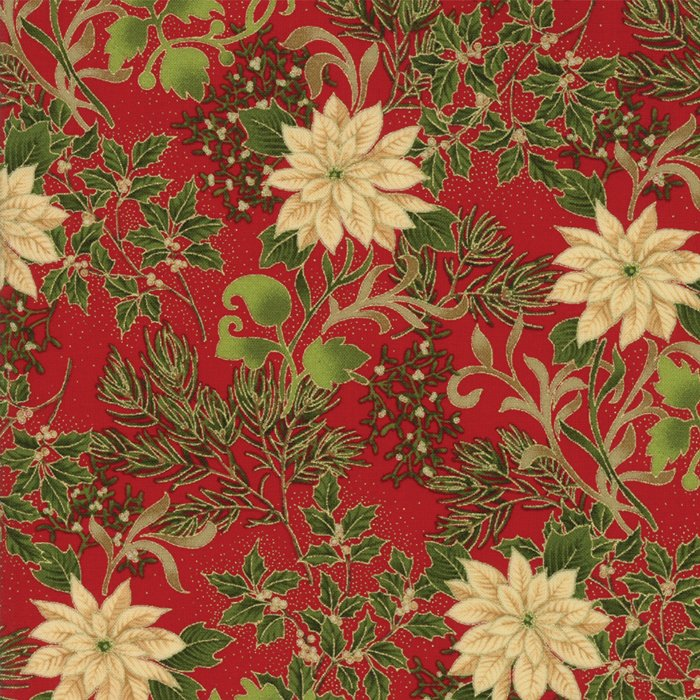 Gilded Greenery Metallic 33332-12M Crimson