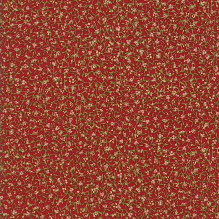 Gilded Greenery Metallic 33333-12M Crimson