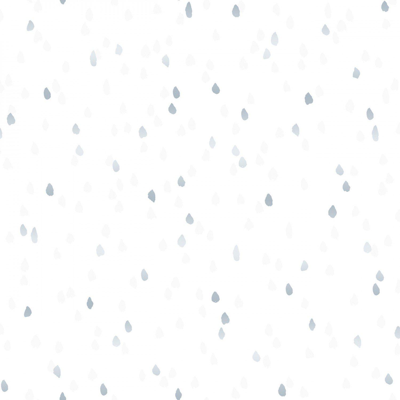 Enchanted Lake 3605-3 Raindrops Swan Metallic