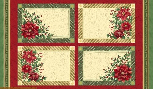 Holiday Traditions 41691M 24 Placemat Panel