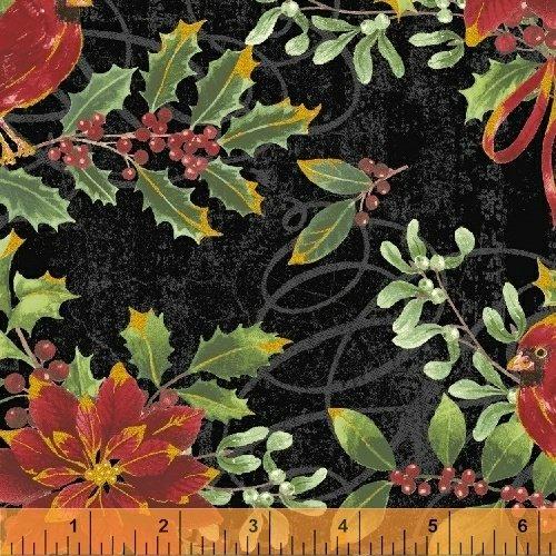 Noel 42394M-2 Black Cardinal Floral