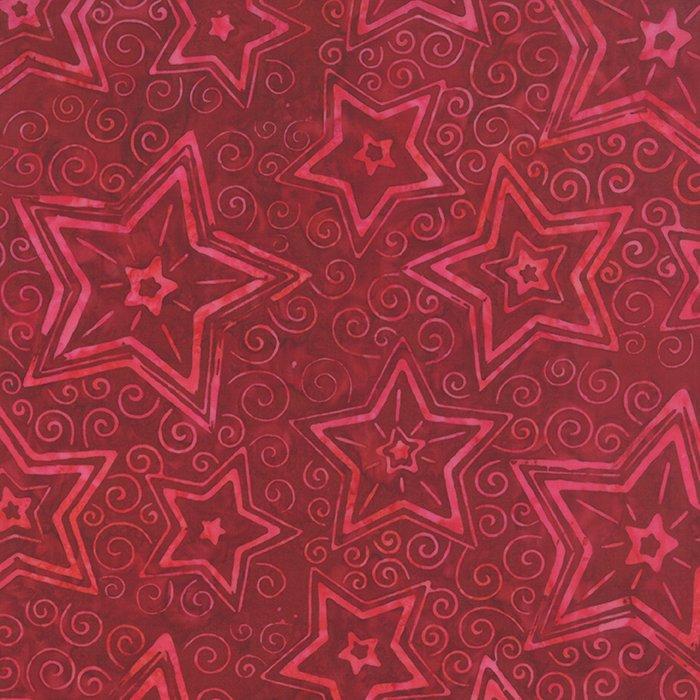 De la Sol Batiks 4337-18 Raspberry