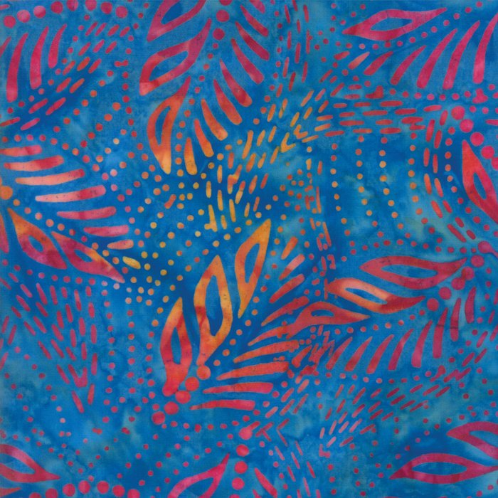 Tiki Batiks 4343-28 Royal Rainbow