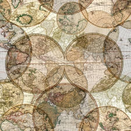 Seven Seas 51381-D (World Globes Multi Digitally Printed)