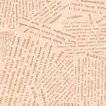 Potpourri 51658-10 Apricot Word Collage