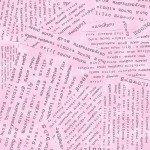 Potpourri 51658-4 Peony Word Collage