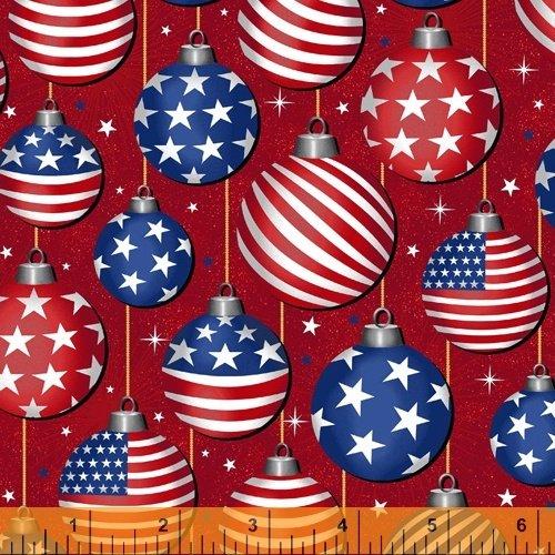 Christmas USA 51666-2 Ornaments Red
