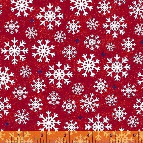 Christmas USA 51667-2 Snowflakes Red