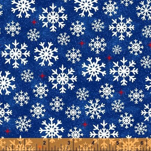 Christmas USA 51667-3 Snowflakes Blue