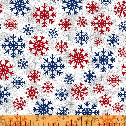 Christmas USA 51667-4 Snowflakes White