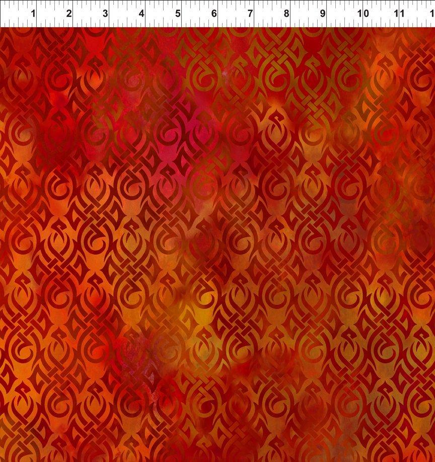 Dragons 5DRG1 Flames Red/Orange