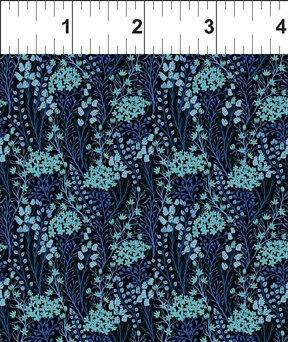 Garden Delights III 5GSG3 Prairie Flowers Blue