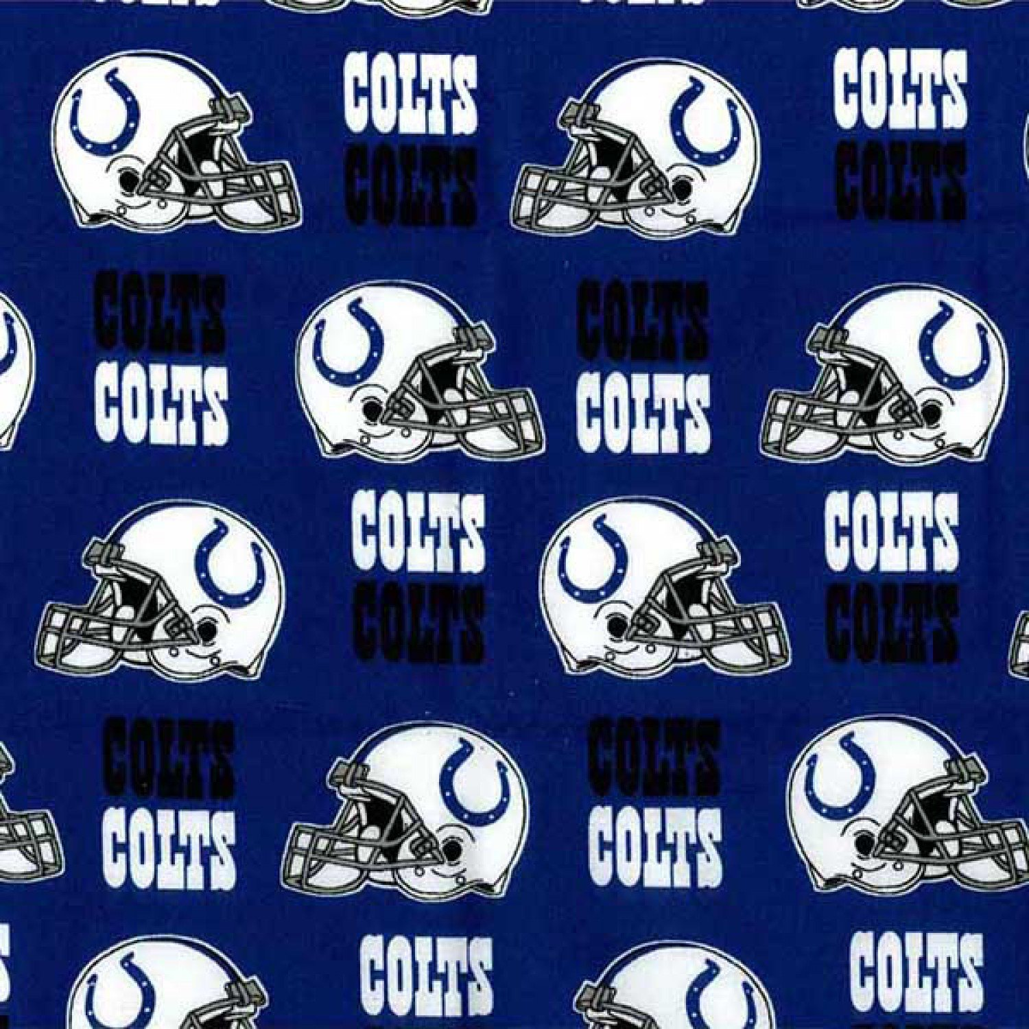 NFL Indianapolis Colts  6006-D Cotton 58-60 Wide on Blue