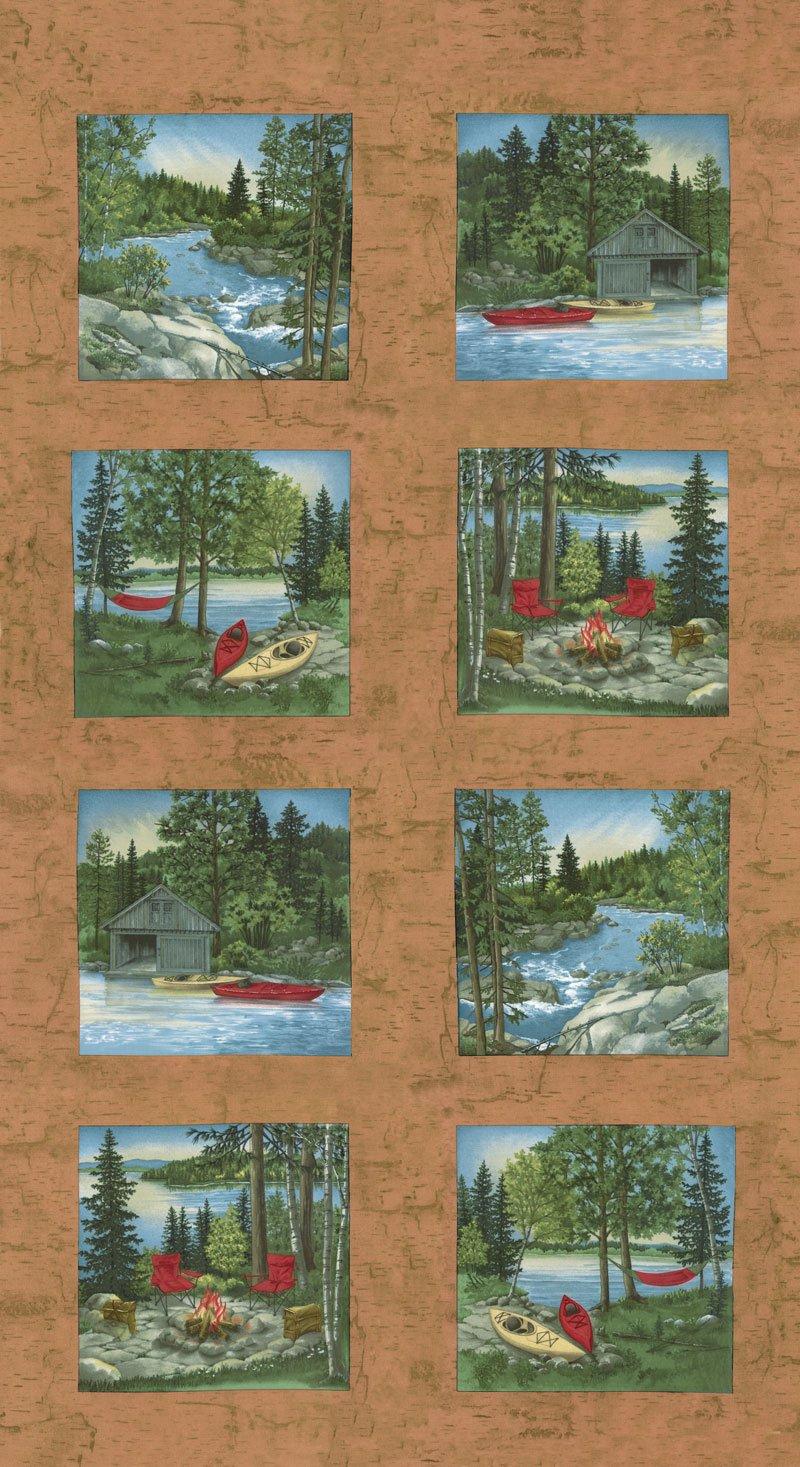 River Journey 6680-19 Buckskin Panel