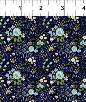 Garden Delights III 6GSG2 Floral Medley Blue