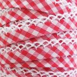 Double Fold Crochet Edge Bias Tape Gingham Red # 71436-46