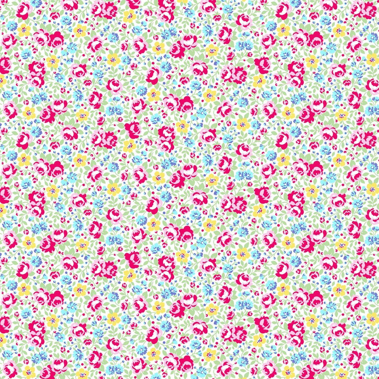 Flower Sugar 745902-10 Floral on Cream