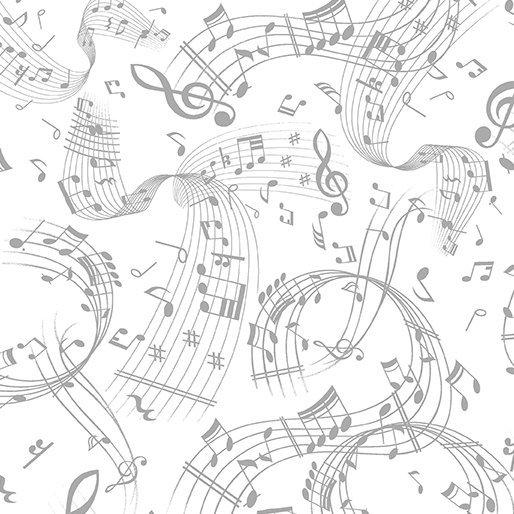 Swirling Music 7804-08 White/Gray