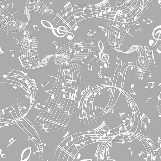 Swirling Music 7804-11 Dove Gray