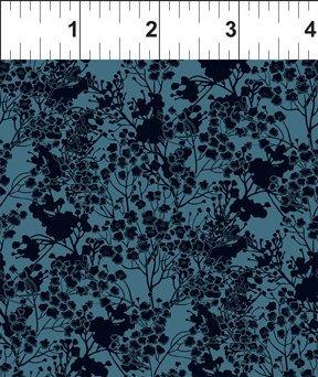 Garden Delights III 7GSG4 Tonal Floral Blue