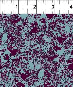 Garden Delights III 7GSG5 Tonal Floral Plum