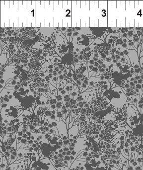 Garden Delights III 7GSG7 Tonal Floral Medium Gray