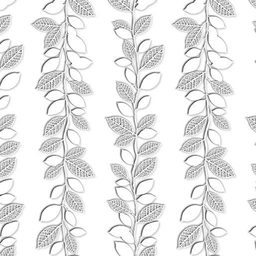White Out 8483-11 Winter Vine Silver/White