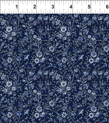 Garden Delights III 8GSG3 Delicate Blooms Blue