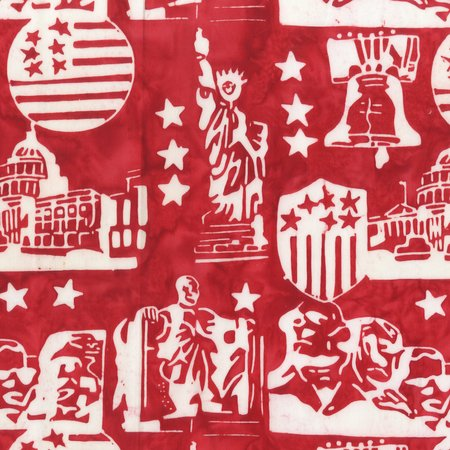 Freedom 9000Q-2 Red Patriotic Batik Print