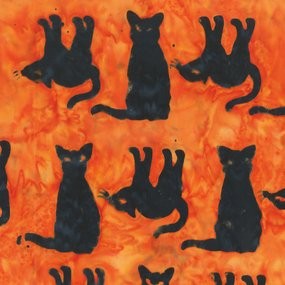 Trick or Treat 9009Q-3 Orange Black Cats