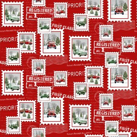 The Tradition Continues 9098-88 Tossed Truck Stamps Red