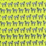 Jungle Party 112-29581 Lined Zebras Green