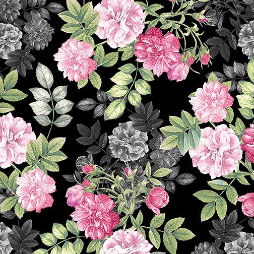 Pearl Ballet 9838P-12 Floral Romance Black