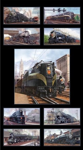 All Aboard Panel 8500-Black (Trains)