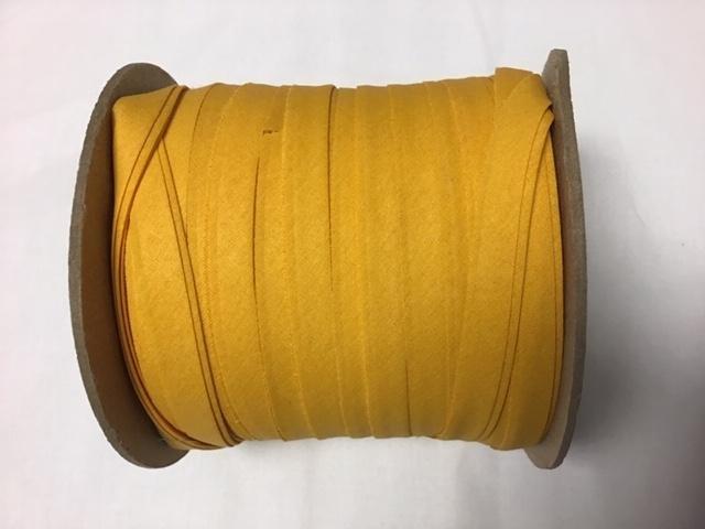 Bias Tape Double Fold 1/2 Gold