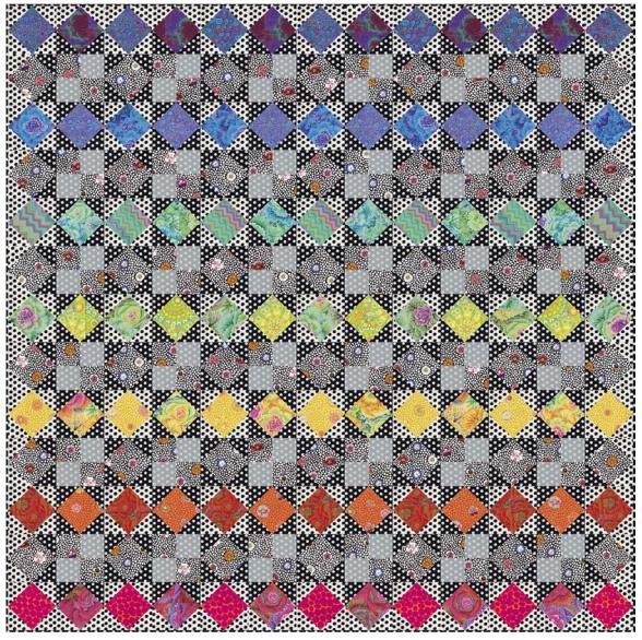 Rainbow Star Summer Quilt - Bold Colorway