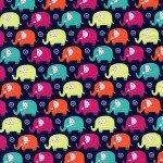 Zoo Littles-Its a boy thing CX6547-NAVY-D Mini Elephants