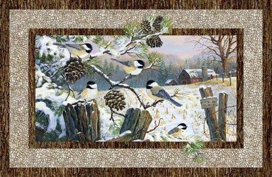 Winter Chickadee DP222444-12 Beige Digital Panel