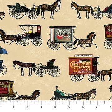 Autumn Village DP 22383-12 Beige Digital Print
