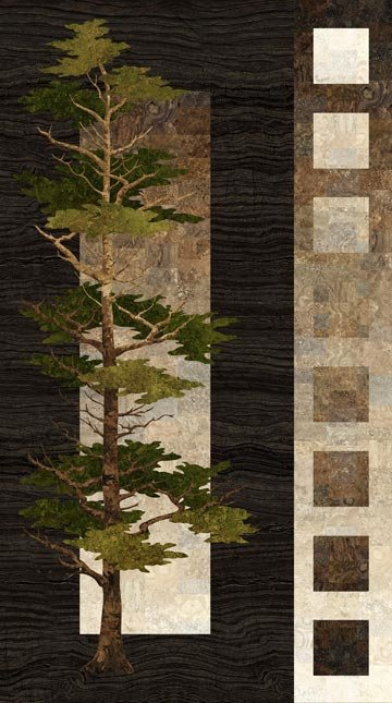 Mighty Pines 22440-38 Brown Panel Digital Print