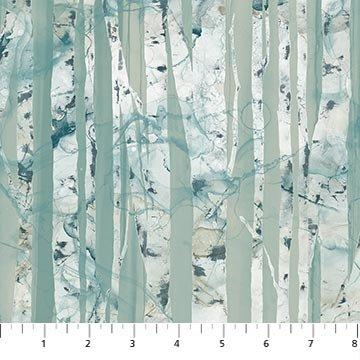 WHISPERING PINES  DP23754-42 Blue Multi Birch Trees