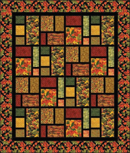 Fall's Tapestry Quilt Kit : fall quilt - Adamdwight.com