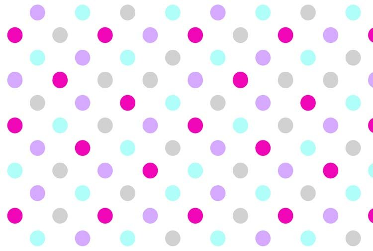 Flower Sugar 745903-10 Multiple colored dots on White