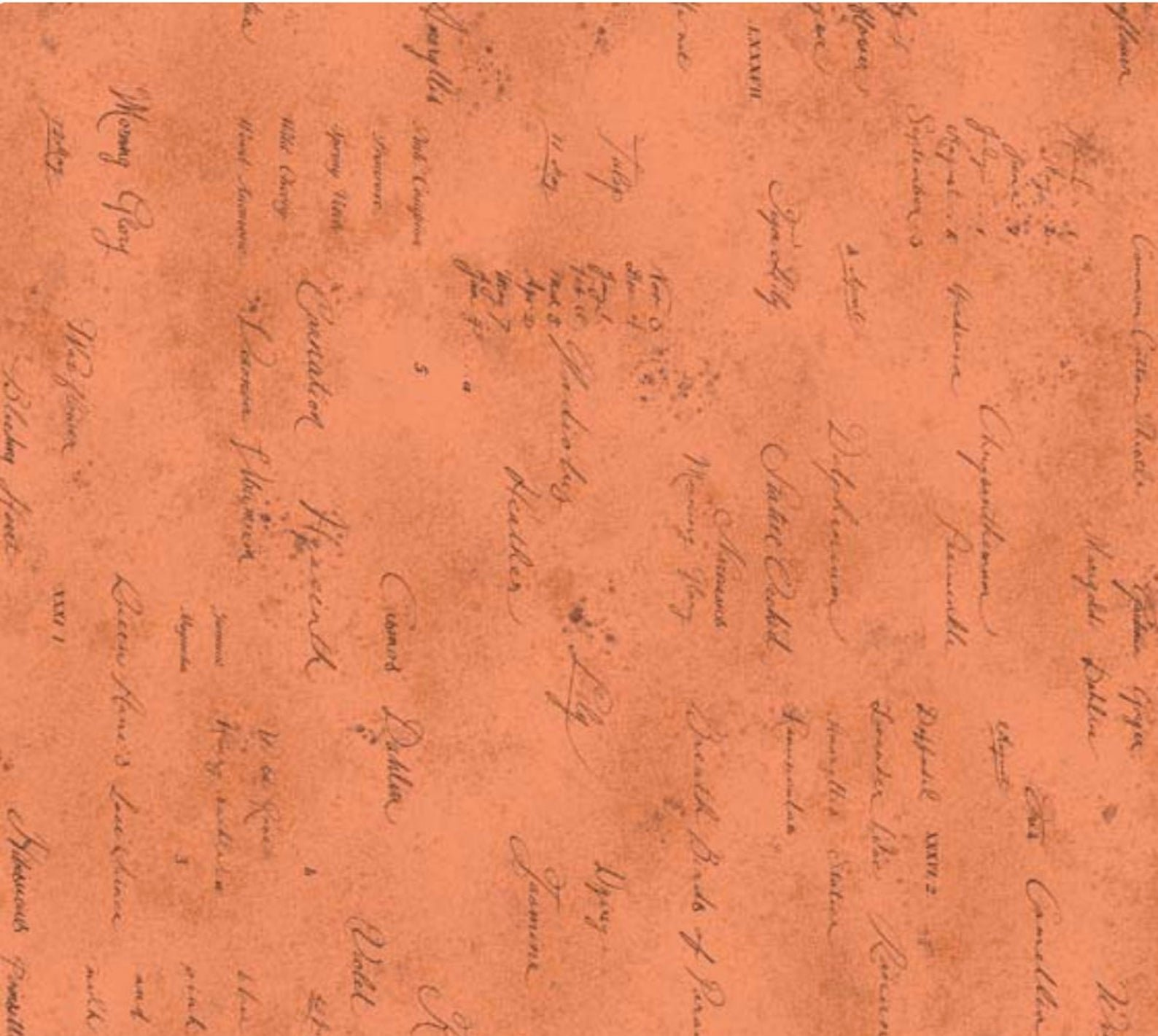 Memoire A Paris 820819-40 Script on orange