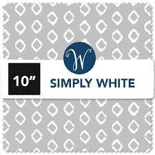 Simply White WHITCP10-X  (42) 10 Squares