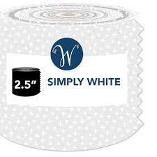 Simply White WHITJR-X  (40) 2.5 X 44 Strips