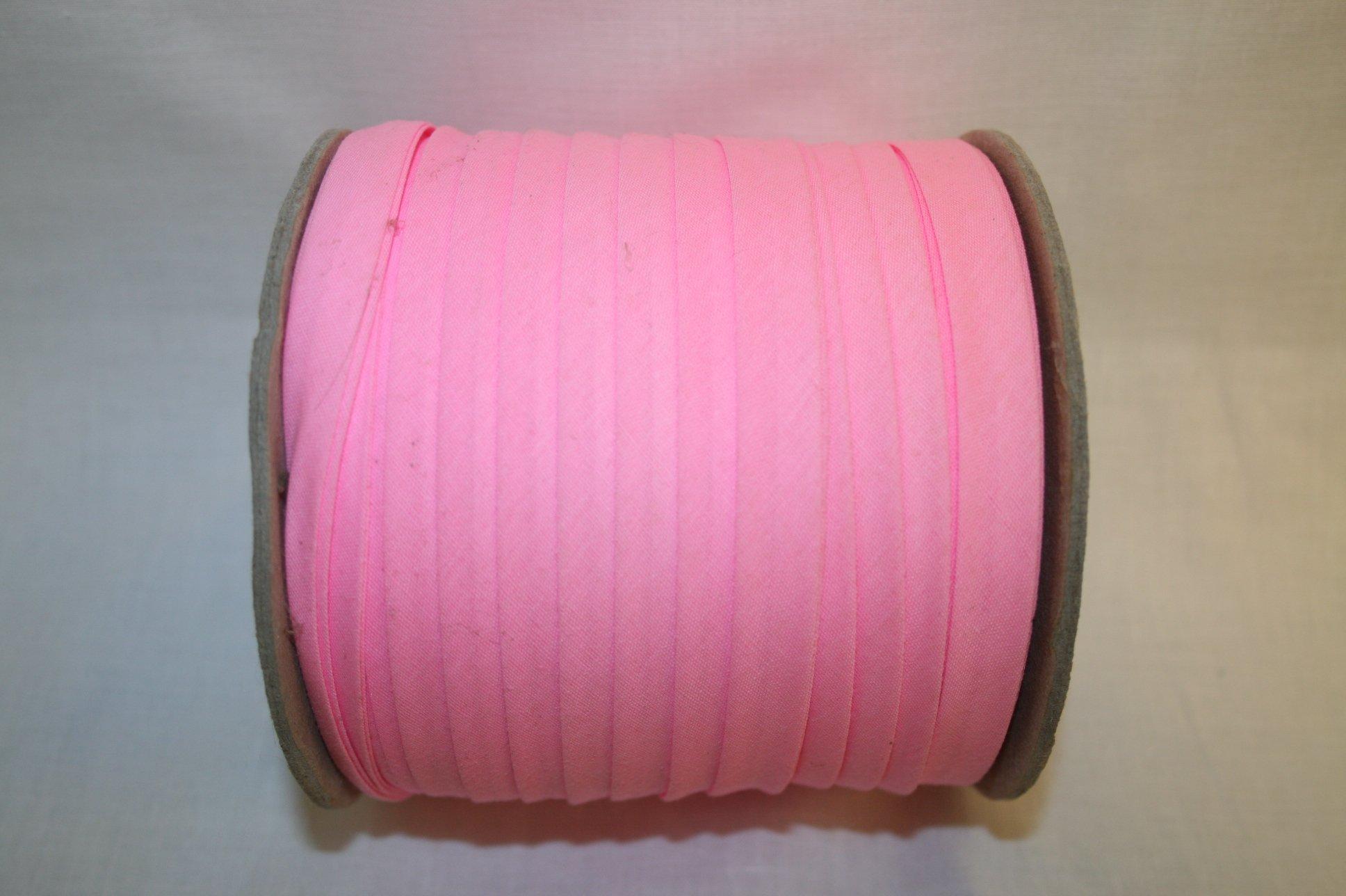 Bias Tape Double Fold Poly/Cotton 1/2 Pink