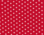 Corduroy Dots on Red